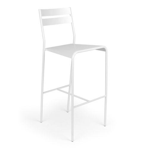 tabouret de bar facto blanc coton de fermob. Black Bedroom Furniture Sets. Home Design Ideas