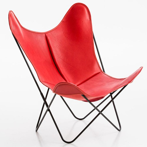 fauteuil aa cuir buffalo rouge de airborne. Black Bedroom Furniture Sets. Home Design Ideas