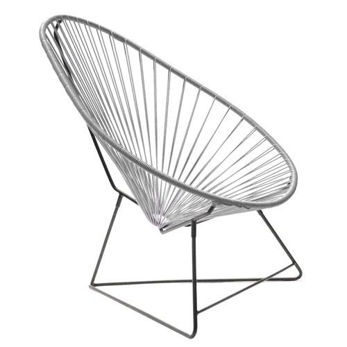 fauteuil acapulco gris de boqa. Black Bedroom Furniture Sets. Home Design Ideas