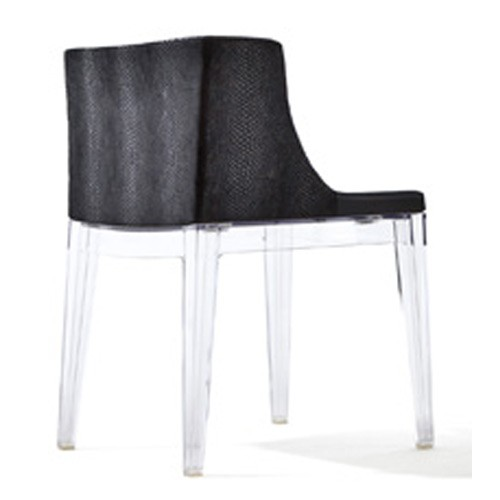 fauteuil mademoiselle kravitz transparent python fourrure de kartell. Black Bedroom Furniture Sets. Home Design Ideas