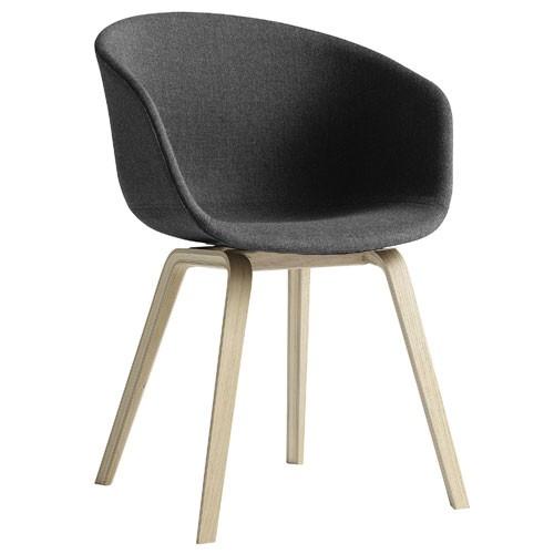 fauteuil about a chair aac23 h tre naturel gris fonc de hay. Black Bedroom Furniture Sets. Home Design Ideas
