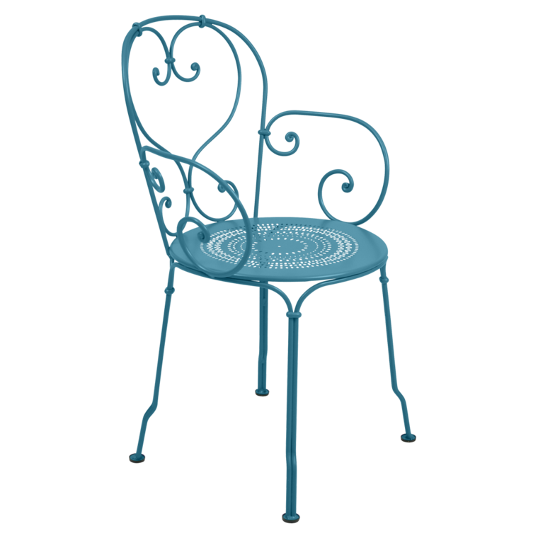 fauteuil 1900 bleu turquoise de fermob. Black Bedroom Furniture Sets. Home Design Ideas