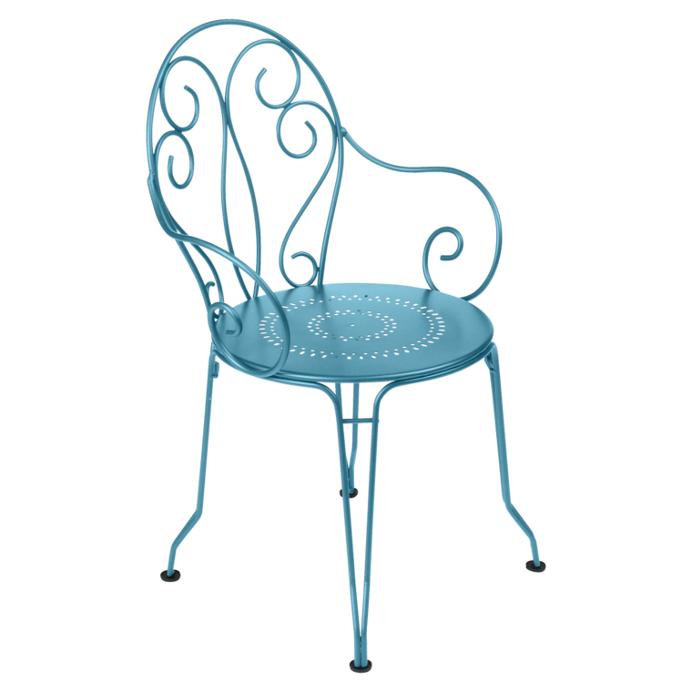 fauteuil montmartre bleu turquoise de fermob. Black Bedroom Furniture Sets. Home Design Ideas