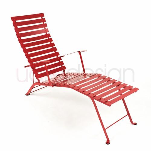 chaise longue bistro coquelicot de fermob. Black Bedroom Furniture Sets. Home Design Ideas