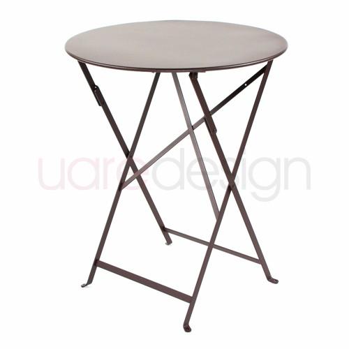 table pliante bistro 60cm rouille de fermob. Black Bedroom Furniture Sets. Home Design Ideas