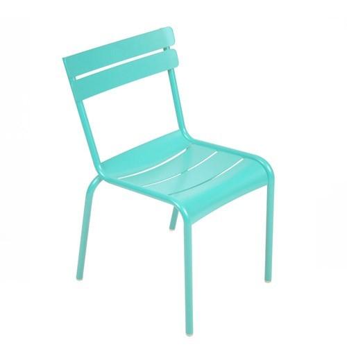 chaise luxembourg bleu lagune de fermob. Black Bedroom Furniture Sets. Home Design Ideas