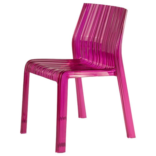 chaise frilly fushia de kartell. Black Bedroom Furniture Sets. Home Design Ideas