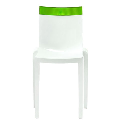 chaise hi cut structure blanc structure blanche dossier vert de kartell. Black Bedroom Furniture Sets. Home Design Ideas