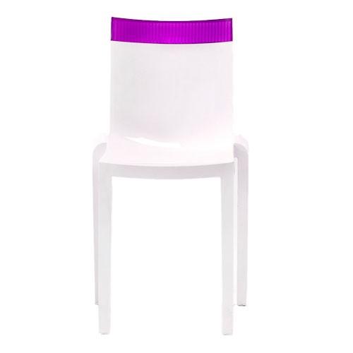 Chaise Hi Cut Structure Blanc Structure Blanche Dossier Violet De