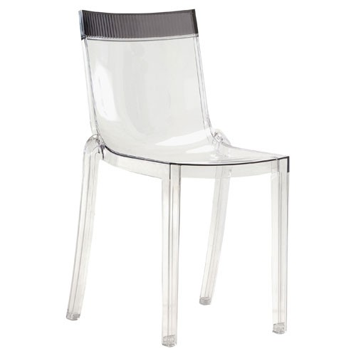 Chaise Hi Cut Structure Transparent Dossier Fume