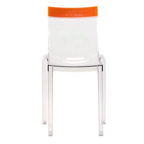 Hi Cut Chaise Design Kartell Transparent Orange
