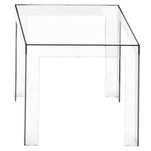 Table Basse Jolly De Kartell Transparent Cristal