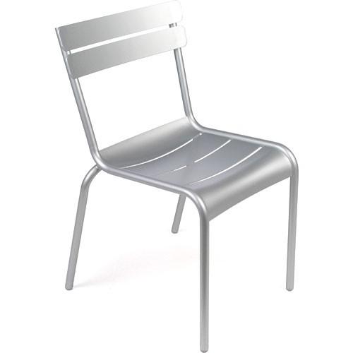 chaise luxembourg gris metal de fermob. Black Bedroom Furniture Sets. Home Design Ideas