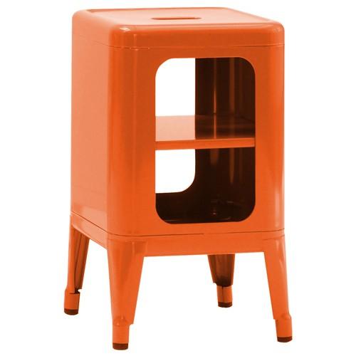 Tabouret de rangement h500 orange de tolix - Meuble tolix ...