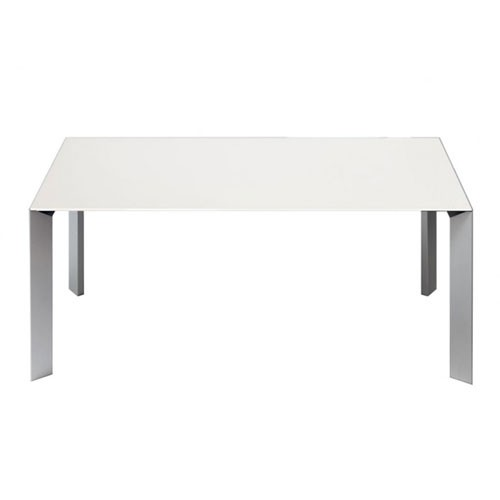 perfect top extensible profondeur cm design kristalia pitement aluminium plateau blanc with table extensible with table extensible aluminium with kristalia - Table Extensible