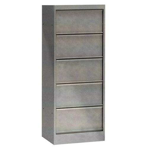 classeur a clapets 5 cases acier brut verni 5 clapets de tolix. Black Bedroom Furniture Sets. Home Design Ideas