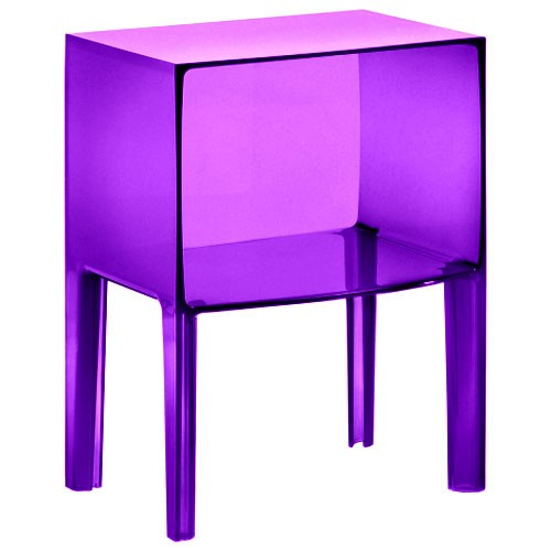 Chevet small ghost buster transparent violet de kartell - Table de chevet kartell ...
