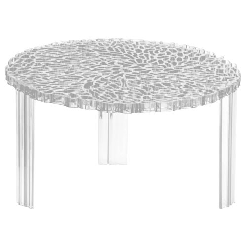 Table basse t table hauteur 28 cm transparent cristal de for Table basse kartell