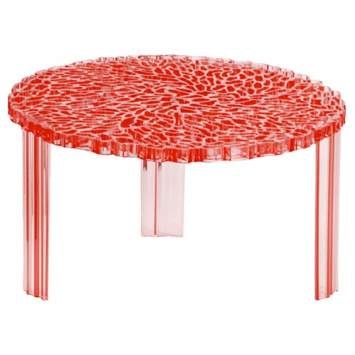 table basse t table hauteur 28 cm transparent rouge de kartell. Black Bedroom Furniture Sets. Home Design Ideas