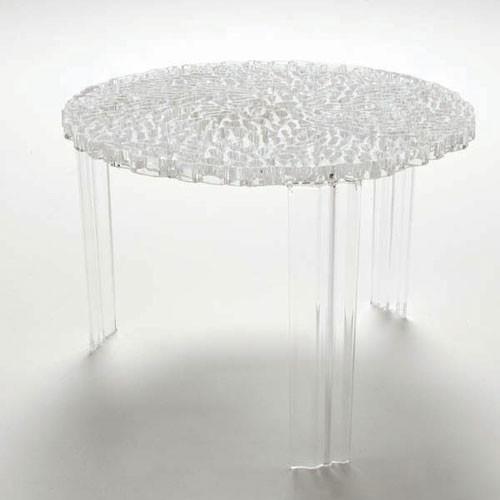 table basse t table hauteur 36 cm transparent cristal de kartell. Black Bedroom Furniture Sets. Home Design Ideas