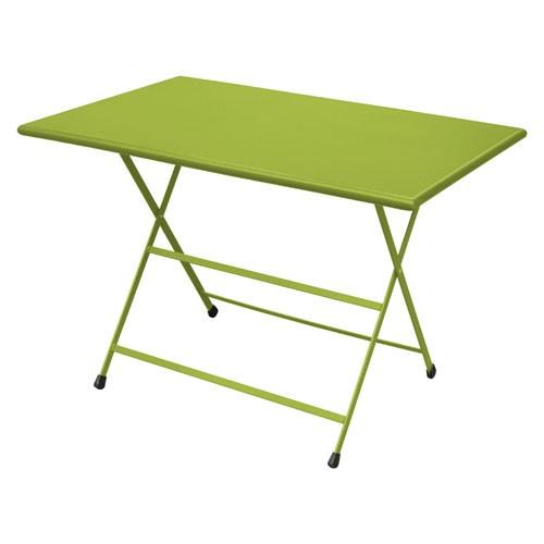TABLE PLIANTE 110X70 ARC EN CIEL VERT de EMU