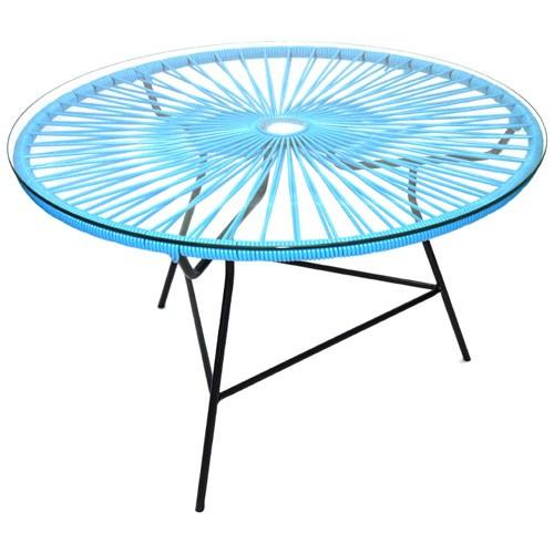 table basse zipolite bleu ciel de boqa. Black Bedroom Furniture Sets. Home Design Ideas