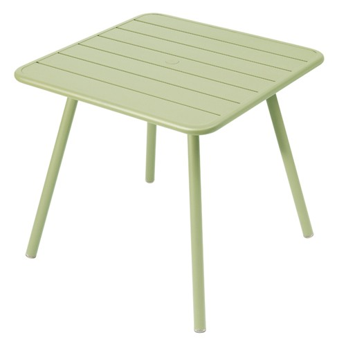 table luxembourg 80x80cm tilleul de fermob. Black Bedroom Furniture Sets. Home Design Ideas