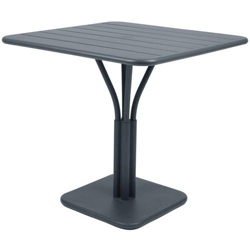 table luxembourg 80x80cm 1 pied gris orage de fermob. Black Bedroom Furniture Sets. Home Design Ideas