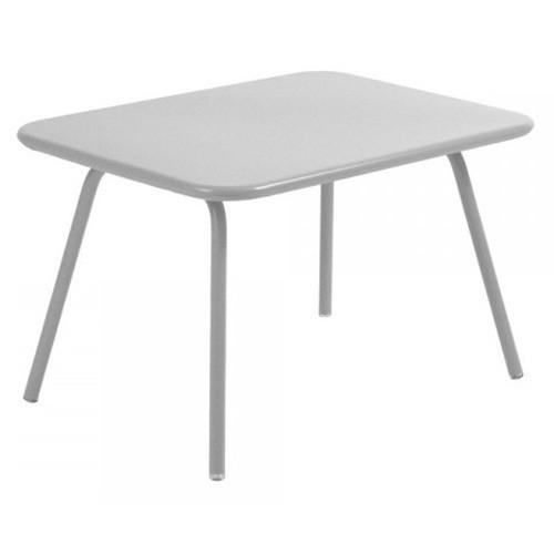 table luxembourg kid gris m tal de fermob. Black Bedroom Furniture Sets. Home Design Ideas