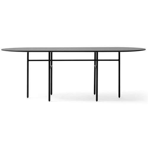 Table snaregade ovale noir de menu for Table 9 menu