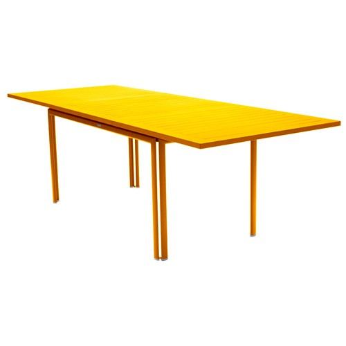 Table a allonge costa miel de fermob for Table extensible fermob