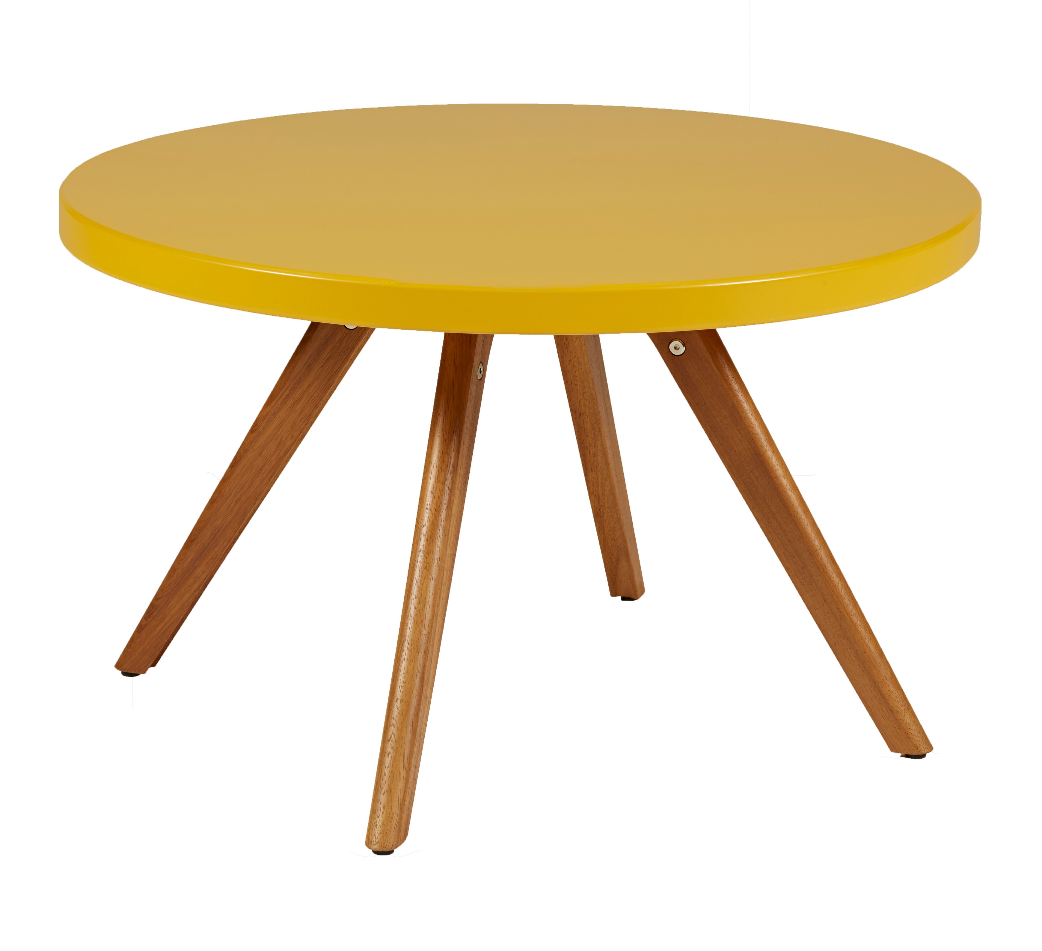 TABLE BASSE RONDE K17 INOX, Ø 80 cm, Jaune moutarde de TOLIX