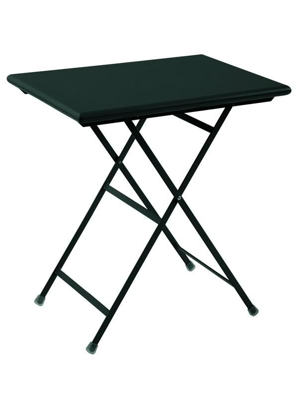 TABLE RECTANGULAIRE ARC EN CIEL, 70 Cm, Noir De EMU