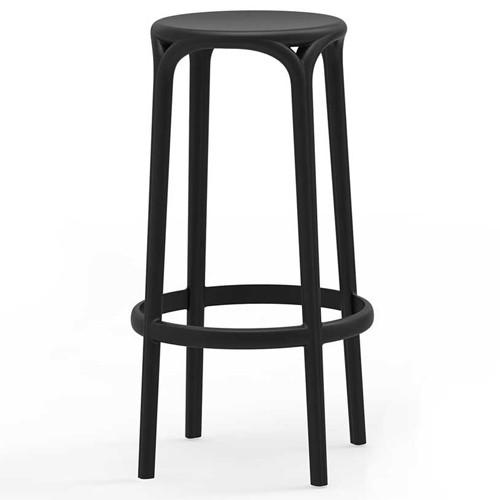 tabouret brooklyn noir de vondom. Black Bedroom Furniture Sets. Home Design Ideas