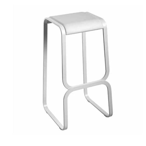continuum tabouret haut h 68 cm blanc assise blanc laqu de la palma. Black Bedroom Furniture Sets. Home Design Ideas