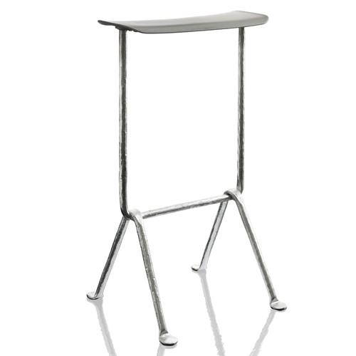 tabouret h65cm officina galvanise structure galvanis assise gris m tallis de magis. Black Bedroom Furniture Sets. Home Design Ideas