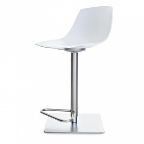 miunn tabouret de bar 54 79cm inox laqu blanc de la palma. Black Bedroom Furniture Sets. Home Design Ideas