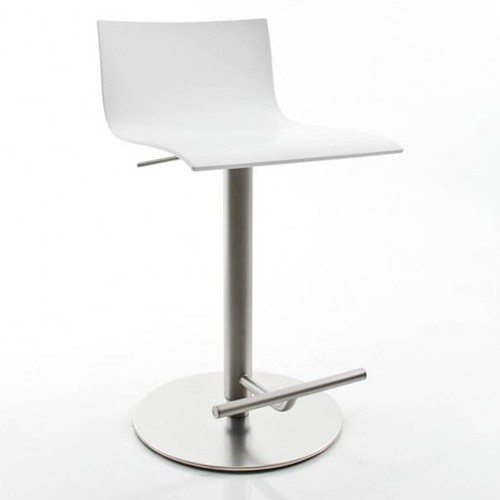 tabouret de bar blanc laque