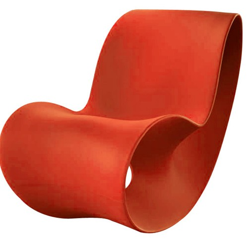 voido rocking chair orange de magis. Black Bedroom Furniture Sets. Home Design Ideas