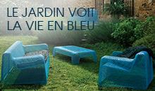Mobilier de jardin BLEU