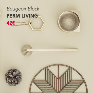 Bougeoir Block Ferm Living