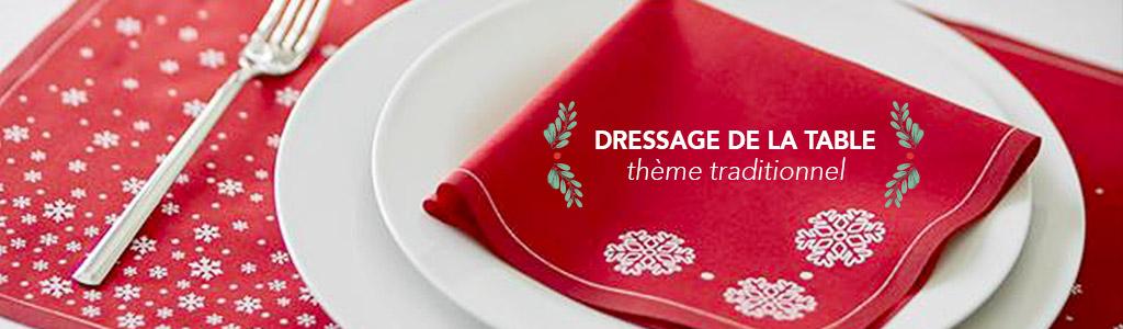 Dressage de la table Thème traditionnel